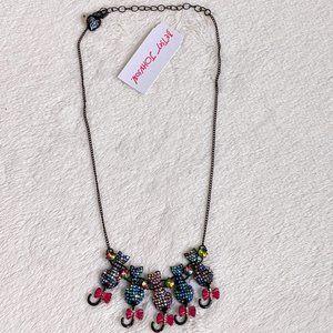NWT Betsey Johnson Black Cats Halloween Necklace
